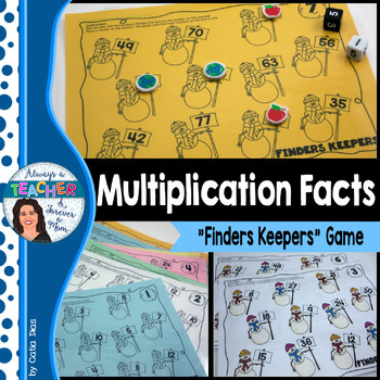 Finders Keepers - Multiplication Facts Game