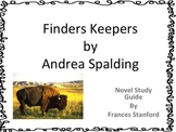 Finders Keepers Novel Study  Guide