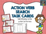 Finding Action Verbs in Sentences Task Cards