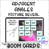 Finding Adjacent Angles Picture Reveal Boom Cards