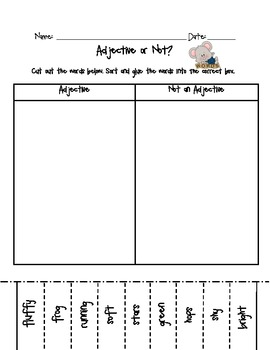 Finding Adjectives
