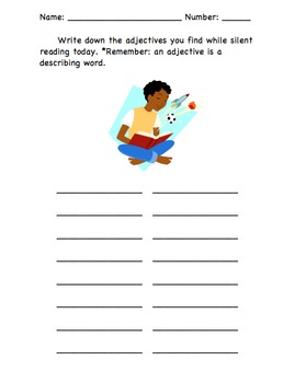 Finding Adjectives: Read to Self