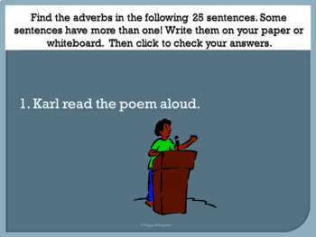 Adverbs PowerPoint with Interactive Practice