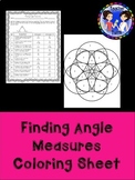 Finding Angle Measures Coloring Page