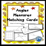 Finding Angle Measures by Solving for X Matching Card Set