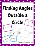 Finding Angles Outside a Circle Card Sort