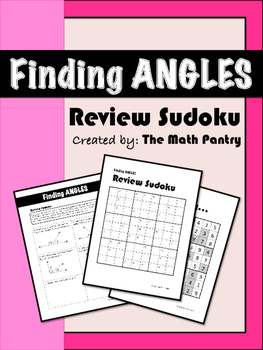 Finding Angles - Review Sudoku