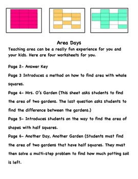 Finding Area: A Mini Math Unit on Area