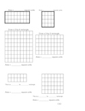 Finding Area Demonstration and Student Worksheets