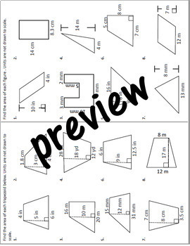 Finding Area Foldable for Interactive Notebook