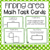 3rd Grade Finding Area Task Cards | Area Math Center | Are