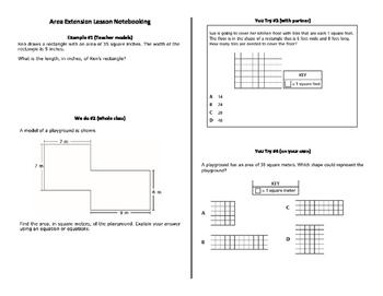 Finding Area Multi-step Lesson