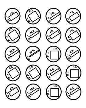Finding Area & Perimeter Game - Pepperoni Galore - Math CCSS Measurement