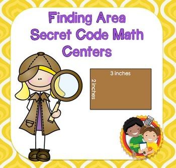 Finding Area Secret Code Math Center