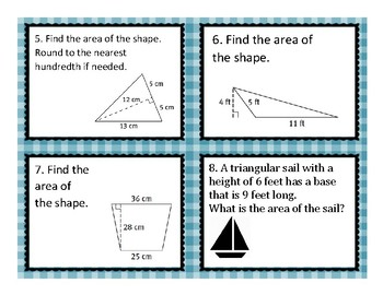 Finding Area Task Cards