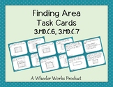 Finding Area Task Cards - 3.MD.C.6, and 3.MD.C.7