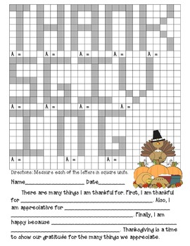 Finding Area Thanksgiving Fun Pack
