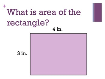 Finding Area- Tiling and Multiplication