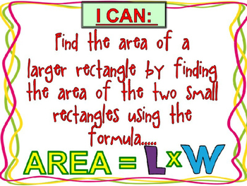 Finding Area {Interactive Power Point} Using L x W {Revised May 2016}