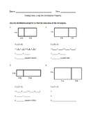 Finding Area Using the Distributive Property