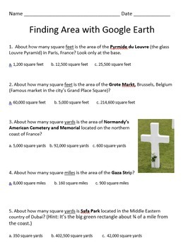 Finding Area With Google Earth