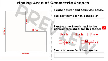 Finding Area and Decomposing Geometric Shapes - Google Slides Activity
