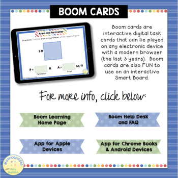 Finding Area and Perimeter BOOM Cards