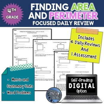 Finding Area and Perimeter - Focused Daily Review