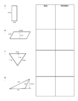 2D Geometry 02 - Finding Area and Perimeter of 2-Dimensional Figures