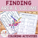 Finding Area and Volume Coloring Activities