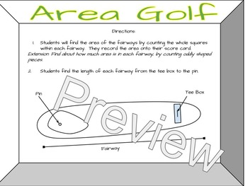 Finding Area at the Area Golf Course