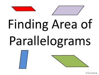 Finding Area of Parallelograms PowerPoint