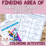Finding Area of Parallelograms and Triangles Coloring Activity