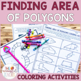 Finding Area of Polygons Coloring Activity