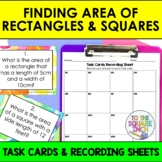 Finding Area of Rectangles and Squares Task Cards