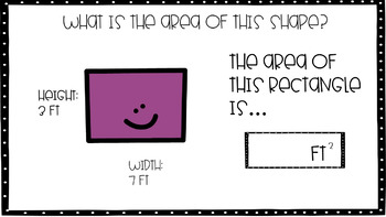 Finding Area of Squares and Rectangles Google Slide/ Digital Task Cards