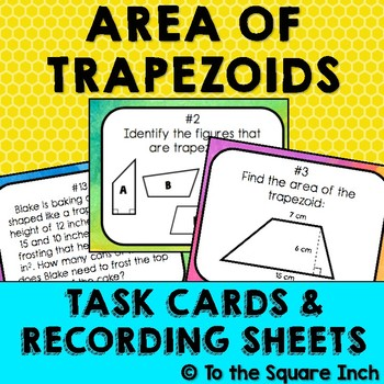 Finding  Area of Trapezoids Task Cards