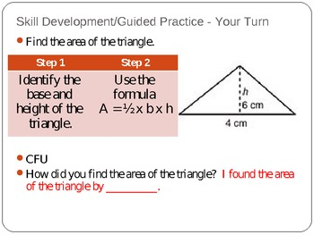 Finding Area of Triangles