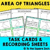 Finding  Area of Triangles Task Cards