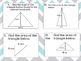 Finding Area of a Triangle Task Cards