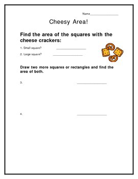Finding Area with Cheese Crackers