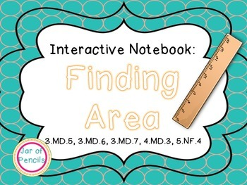 Finding Area with Square Units Interactive Notebook