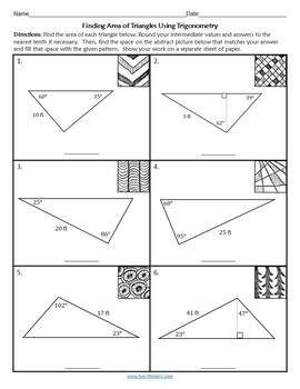 Finding Areas of Triangles Using Trigonometry Zen Math