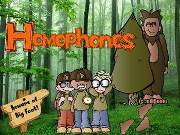 Big Foot Homophones Interactive PPT Game