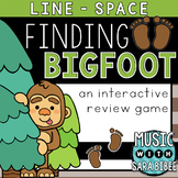 Finding Bigfoot (Line/Space) an Interactive Music Concept