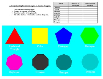 Finding Central Angles in Regular Polygons with Key