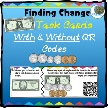 Counting & Finding Change QR Task Cards