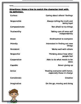 Characterization: Character Traits in Reading 4 Day Unit