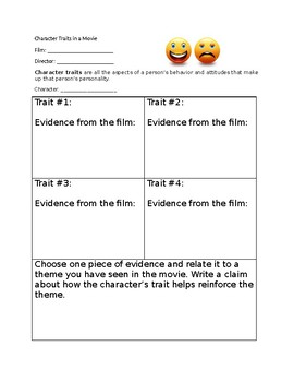 Finding Character Traits in a Movie