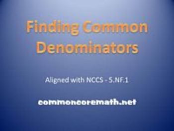 Finding Common Denominator to Add and Subtract Fractions B